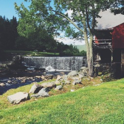 Mill and waterfall behind Weston Playhouse, Weston, VT (08/13/15)