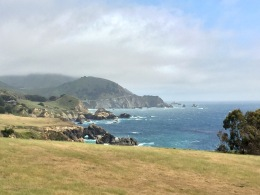 View of Bixby Bridge and Big Sur Coast from Highway One, Monterey County